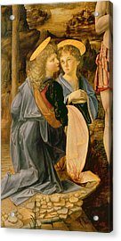 Detail Of The Baptism Of Christ By John The Baptist Acrylic Print by Andrea Verrocchio
