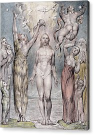 The Baptism Of Christ Acrylic Print by William Blake