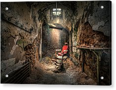 The Barber's Chair -the Demon Barber Acrylic Print by Gary Heller