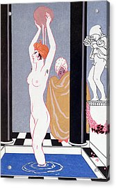 The Basin Acrylic Print by Georges Barbier