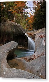 New England Acrylic Print featuring the photograph The Basin In The New Hampshire White Mountain National Forest by Juergen Roth