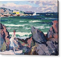 The Bather Acrylic Print by Francis Campbell Boileau Cadell