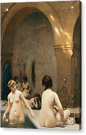 The Bathers Acrylic Print by Jean Leon Gerome