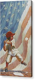 The Batter Acrylic Print by Gregory Perillo