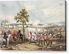 The Battle Of Goojerat On 21st February Acrylic Print by Henry Martens