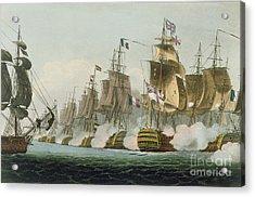 The Battle Of Trafalgar Acrylic Print by Thomas Whitcombe