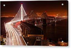 The Bay Bridges Acrylic Print by Alexis Birkill