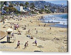 The Beach At Laguna Acrylic Print by Kelley King