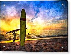 The Beach Boys Acrylic Print by Debra and Dave Vanderlaan