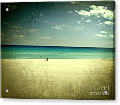 The Beach - From My Iphone Acrylic Print by Mary Machare
