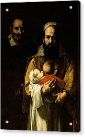 The Bearded Woman Breastfeeding, 1631 Oil On Canvas Detail Of 84020 Acrylic Print by Jusepe de Ribera