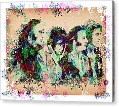 The Beatles 10 Acrylic Print by Bekim Art