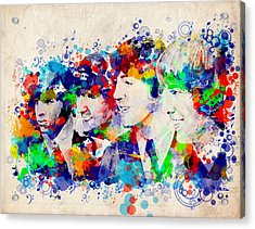 The Beatles 7 Acrylic Print by Bekim Art