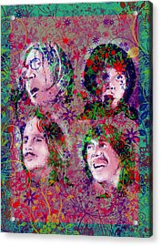 The Beatles 8 Acrylic Print by Bekim Art
