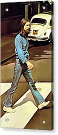 The Beatles Abbey Road Artwork Part 1 Of 4 Acrylic Print by Sheraz A