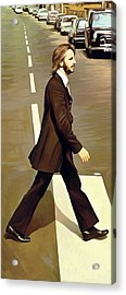 The Beatles Abbey Road Artwork Part 3 Of 4 Acrylic Print by Sheraz A