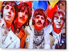 The Beatles Acrylic Print by Dan Sproul