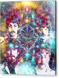 The Beatles Acrylic Print by D Walton