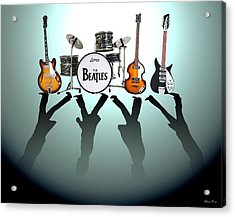 The Beatles Acrylic Print by Lena Day