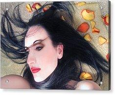 The Beautiful Prisoner - Self Portrait Acrylic Print by Jaeda DeWalt