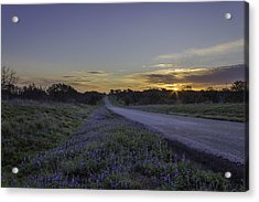 The Beautiful Road At Sunrise Acrylic Print by Jeffrey W Spencer
