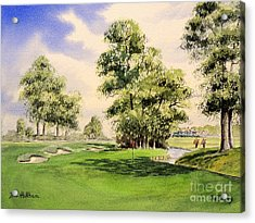 The Belfry Brabazon Golf Course 10th Hole Acrylic Print by Bill Holkham