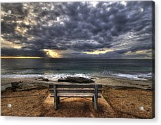 The Bench Acrylic Print by Peter Tellone
