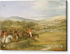 The Berkeley Hunt, Full Cry, 1842 Acrylic Print by Francis Calcraft Turner