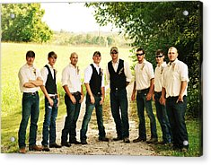 The Groom And His Best Men Acrylic Print by Chastity Hoff