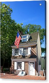 The Betsy Ross House Acrylic Print by Olivier Le Queinec