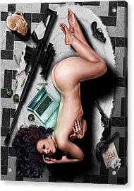 The Big Hit Acrylic Print by Pete Tapang