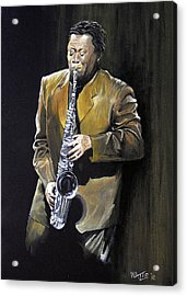 The Big Man - Clarence Clemons Acrylic Print by William Walts
