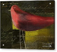The Bird - J100124164-c11c Acrylic Print by Variance Collections