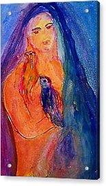 The Bird Whisperers Acrylic Print by Studio Tolere