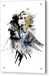 The Birdman Acrylic Print by Aniko Hencz