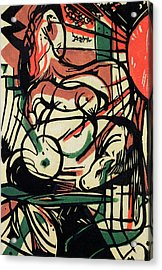 The Birth Of The Horse Acrylic Print by Franz Marc