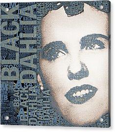 The Black Dahlia Elizabeth Short Acrylic Print by Tony Rubino