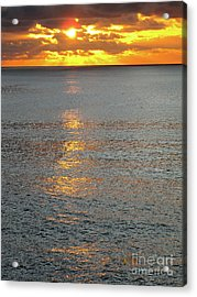 The Black Sea In A Swath Of Gold Acrylic Print by Phyllis Kaltenbach