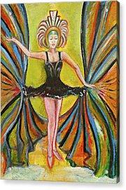 The Black Tutu Acrylic Print by Tom Conway