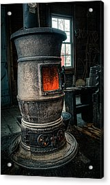 The Blacksmiths Furnace - Industrial Acrylic Print by Gary Heller