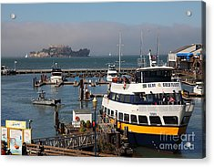 The Blue And Gold Fleet Ferry Boat At Pier 39 San Francisco California 5d26043 Acrylic Print by Wingsdomain Art and Photography