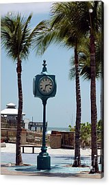 The Blue Clock Acrylic Print by Kathleen Struckle