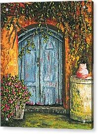 The Blue Door Acrylic Print by Darice Machel McGuire