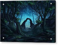 The Blue Forest Acrylic Print by Cassiopeia Art