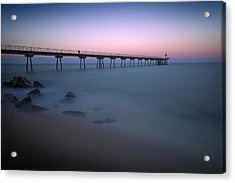 Pier With A View Acrylic Print by Dominique Dubied