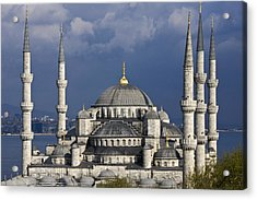 The Blue Mosque In Istanbul Acrylic Print by Michele Burgess