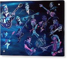 The Blues Acrylic Print by Kathleen Kelly Thompson