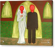 The Blushing Bride And Groom Acrylic Print by Patrick J Murphy