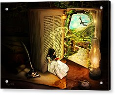 The Book Of Secrets Acrylic Print by Donika Nikova - ShaynArt