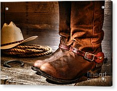 The Boots Acrylic Print by Olivier Le Queinec